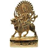 RUDRADIVINE Brass Shera Wali Mata Idol, 5 inch, Gold
