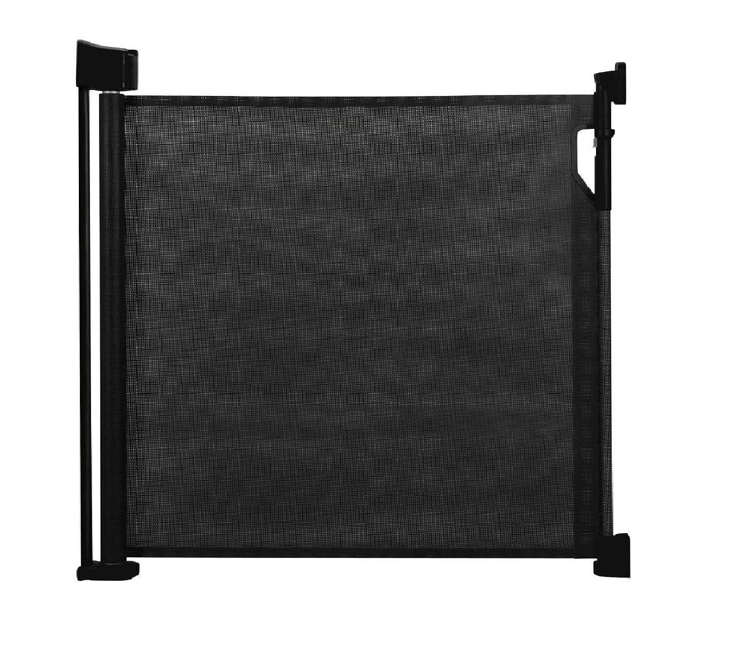 Bettacare Advanced Retractable Pet Gate (60cm - 140cm, Black) Bettacare comes in two sizes 90cm tall and upto 120cm wide, or 95cm tall and upto 140cm wide Screw fitted mesh barrier with steel frame. Easy to follow installation guide with template for perfect fit One-handed operation. Retractable gate that fully retracts when not in use 2