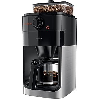 Philips HD7765/00 Grind & Brew Filter Kaffeemaschine (1000 W, Einzelbohnenbehälter) schwarz/edelstahl