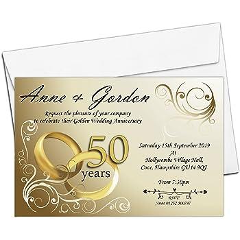 Golden Wedding Anniversary Invitations Kitchen Home
