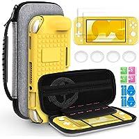 Hianjoo Custodia Compatibile per Switch Lite 2019, Kit di Accessori per Switch Lite con Cover Posteriore, 2 Proteggi…