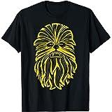 Star Wars Chewbacca Big Face Line Art T-Shirt