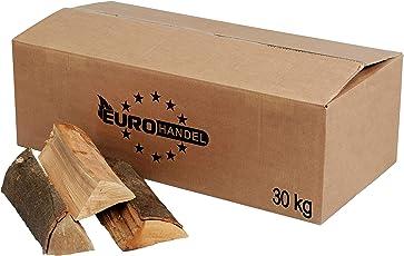 30kg Brennholz 100% Buche für Kaminofen, Ofen, Lagerfeuer, Feuerschalen, Opferschalen bis 25cm buchenholz kaminholz feuerholz Holz Krok Wood Vorsicht vor Fälschungen