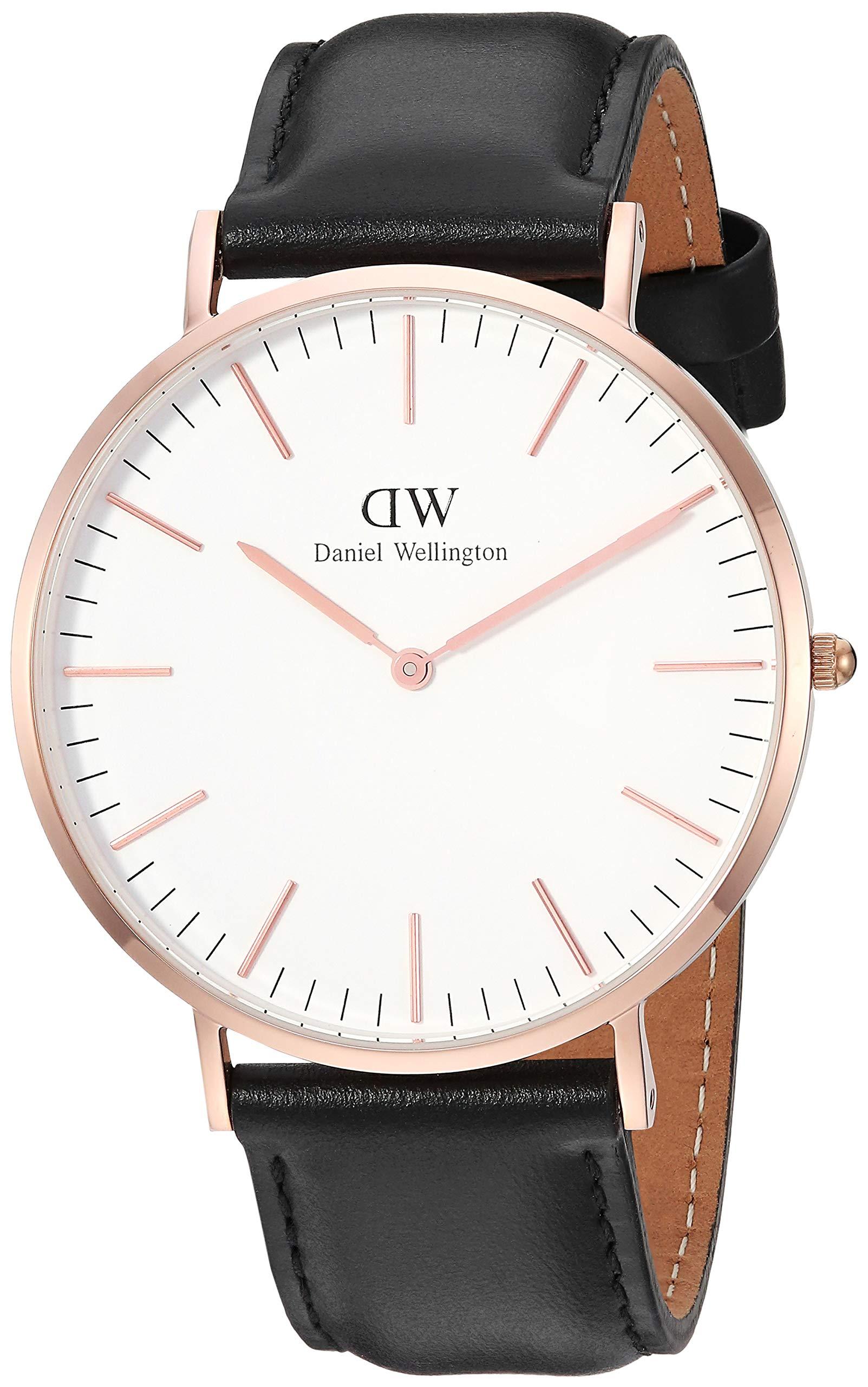 81xRTzja4SL - Daniel Wellington Reloj Analógico para Hombre de Cuarzo con Correa en Cuero DW00500002
