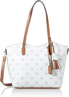 Rieker Damen H1056 Handtasche, Weiß, 370x110x225