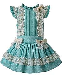 Ju petitpop Lajinirr Vestido de Encaje de Ganchillo con Banda de Encaje Colorete, Vestidos niñas