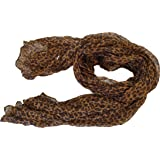 Marrone piccolo animale Celebrity Style stampa leopardo macchie grande sciarpa scialle 177,8x 101,6cm by fat-catz