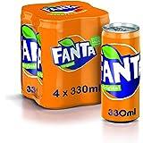 Fanta Original Lattine, 4 x 330ml