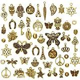 JuanYa Vente en gros de breloques - 50pièces mixtes - Pendentifs assortis pour la fabrication de bijoux et l'artisanat