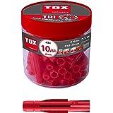 TOX Multifunctionele plug Tri 10 x 61 mm in ronde doos, pluggen voor bijna alle bouwmaterialen, 45 stuks, 010260081