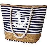 Flintronic Große Strandtasche mit Reißverschluss und Innentasche Wasserdicht Strandtasche, Einkaufstasche Shopper für Damen,
