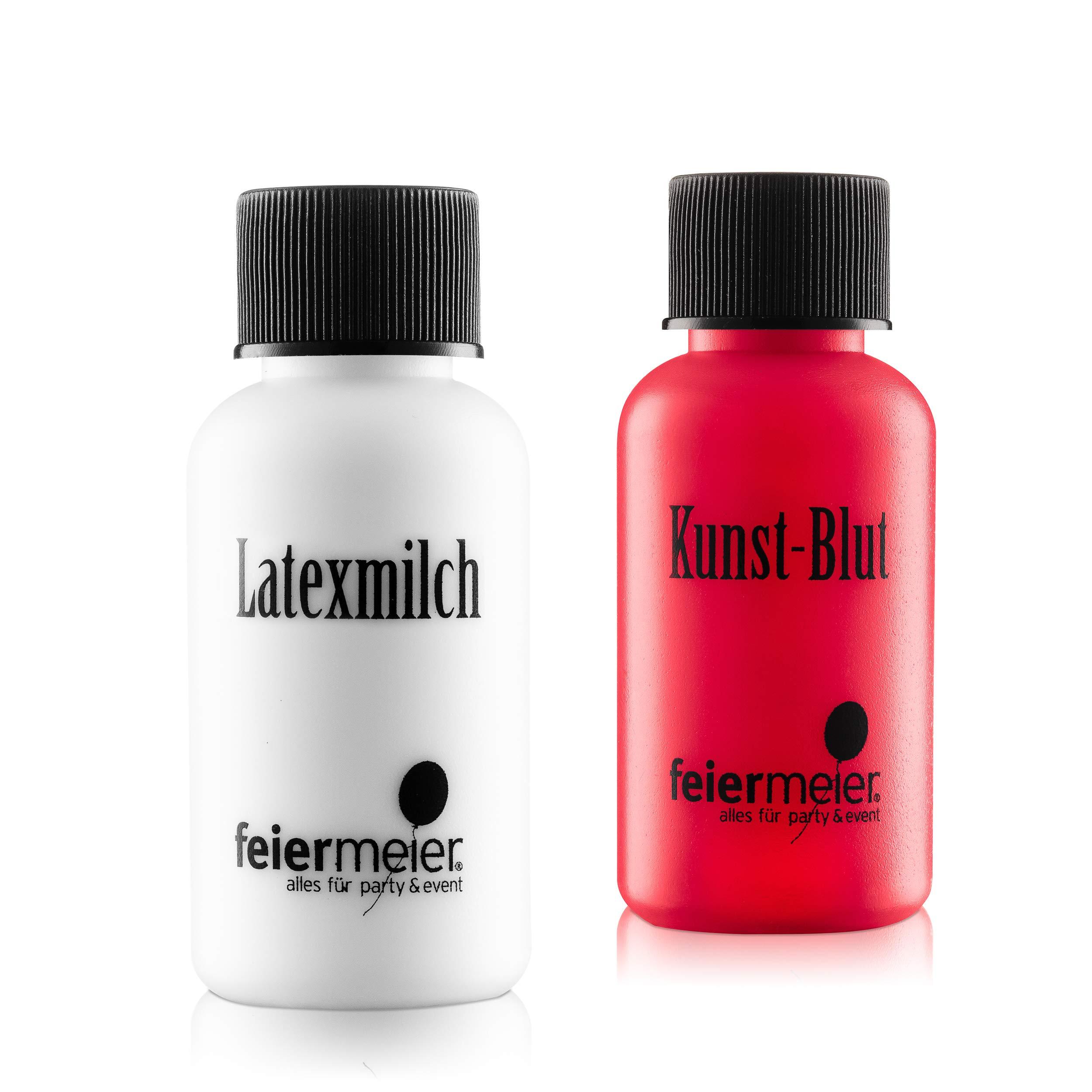 feiermeier® Horror Makeup Set XL Kunstblut (Vampirblut echt) 29,5 ml