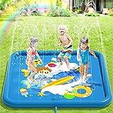 Peradix Splash Pad, Tapete de Juegos de Agua 170CM Almohadilla de Aspersor de Juego, Jardín de Verano Juguete Acuático para N