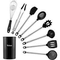 Set de 9 Ustensiles de Cuisine, Batterie de Cuisine, Accessoire Cuisine dont Pot - Cuisine Accessoires Incluant Fouet…