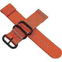 Cinturino in nylon per orologio da 18-24 mm nero verde grigio arancione cinturino balistico per uomo