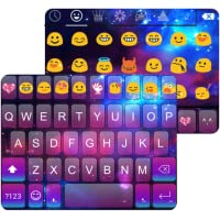Color Galaxy Emoji Keyboard Theme