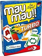 Noris Spiele 608131751 Mau Mau Turbo, Kartenspiel - spielbar mit Amazon Alexa