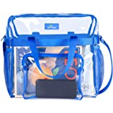 MAY TREE Clear Bag Stadium Approved, Cold-Resistant, Lightweight and Waterproof, Transparent Tote Bag and Gym Clear Bag, See