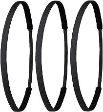 Ivybands ® - | Gentlemens Edition | Das Anti-Rutsch Haarband - 3-er Pack - Schwarz Super Thin Haarband, (1 cm Breite) 3X IVY003