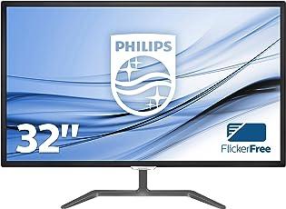 Philips 323E7QDAB/00 80 cm (32 Zoll) Monitor (VGA, DVI, HDMI, 1920 x 1080, 60 Hz, 5ms Reaktionszeit) schwarz