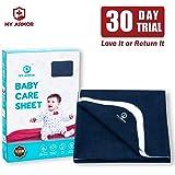 MY ARMOR Baby Dry Sheet/Mattress Protector (Waterproof/Quick Drying/Extra Absorbent/Reusable)(Medium(70Cm x 100cm…