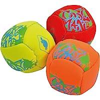 Schildkröt Neopren Mini-Fun-Bälle, 3 Mini Bälle zum Kicken, Werfen, Fangen, Jonglieren, Ø 5 cm, doppelwandig, gefüllt…