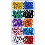 BOSSTER Épingles de Tête 500 pièces Multicolore Tête Carte Punaises Ronde Petite Carte Tacks pour Bureau Fixation et…