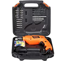 BLACK+DECKER HD555KA50 550W 13mm Variable Speed Reversible Impact Drill Kit with 50 Accessories Kitbox for Home and…