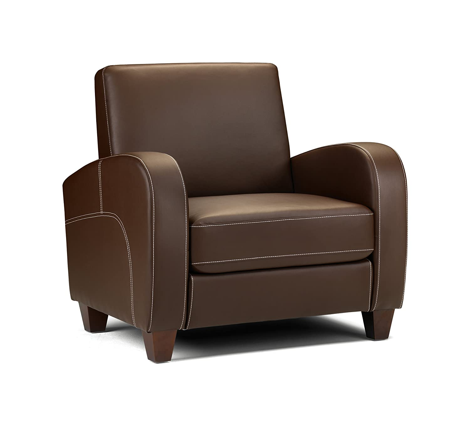 Julian Bowen Vivo Chair Faux Leather Brown Amazon