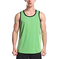 Mens Gym Vest Tops Quick Dry Running Tank Top