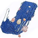 Decoración de red de pesca, Mediterránea del Estilo Decorativa Red de Pesca, Pesca Náutica Decorativa con Conchas, Para Decor