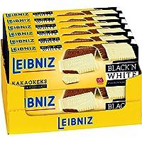 LEIBNIZ Choco Black'n White - 12er Pack - Vorratsbox - Kakaokekse mit weißer Schokolade überzogen - Knackfrisch (12 x…