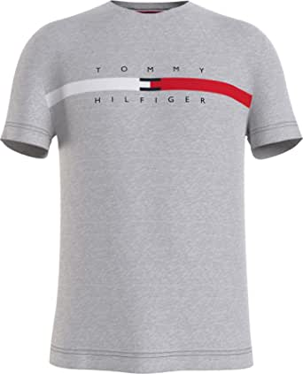 Tommy Hilfiger Men's Global Stripe Chest Tee T-Shirt