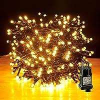 LED Lichterkette Außen, AKASUKI 10M 100LED Lichterkette Strom mit 8 Leuchtmodis, IP44 Wasserdicht Lichterketten mit…