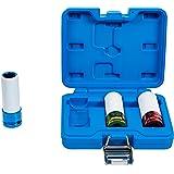 BGS 7200 | Kraft-skonsamt insats | 3 st. | 12,5 mm (1/2 tum) | SW 17/19/21 mm | med plasthylsa | färgkodad