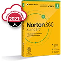 Norton 360 Standard 2021, Antivirus per 1 Dispositivo Licenza di 1 anno Secure VPN e Password Manager PC, Mac, tablet e…