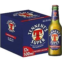 Tennent's Super Birra Strong Lager, Bottiglia - Pacco da 12 x 500 ml