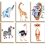 48 Eco-Friendly Cute Blank Greeting Cards with Animal Designs