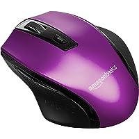 Amazon Basics Souris sans fil ergonomique - DPI réglables - Violet