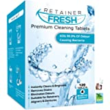 Retainer Cleaning Tablets - 120 Tablets 4 Months Supply Retainer Fresh, Brite, and Stain-Free - Retainer Cleaner Tablet…