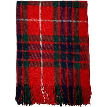 Tartan écossais 100 % laine - Couverture de qualité - Descend jusqu ... 14171f60cb9