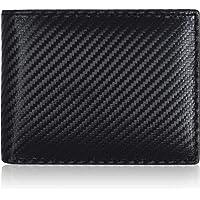 Amazon Brand - Eono Portafoglio in pelle per uomo e donna - design piatto con funzione di protezione lettura RFID (Nero…