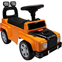 Luvlap - 18526 Explorer Jeep Car Ride On for Kids, Battery Operated Music & Light, 12 Months + (Orange)