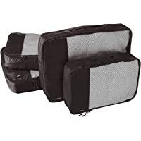 AmazonBasics Packing Cubes - 2 Medium and 2 Large (4-Piece Set), Black