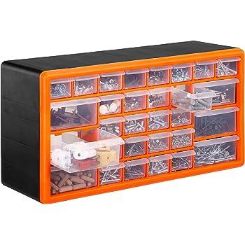 10909 Portable Organizer Tool Box Storage for Screw Nail Nuts Bolts 4//19 Tray
