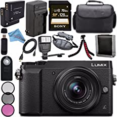 Panasonic Lumix DMC-GX85 DMCGX85 Digital Camera with 12-32mm Lens+37mm 3 Piece Filter Kit (DMC-GX85K-4)
