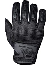 Royal Enfield Black Faux Leather Protective Riding Gloves for Men (RRGGLK000029)