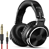 OneOdio Wired Over Ear Stereo Headphones - Black