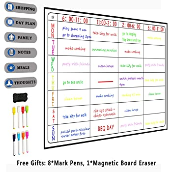 A3 Whiteboard Monatliche Planer Magnetische Nachricht Bord Küche Täglichen Flexible Bulletin Memo Boards Kühlschrank Magnet Zeichnung Kalender Office & School Supplies