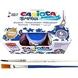 Pinturas Lavables para niños, Temperas de Carioca, 6 Colores de 25 ml, Perfecto para Cumpleaños, Actividades escolares y Fies